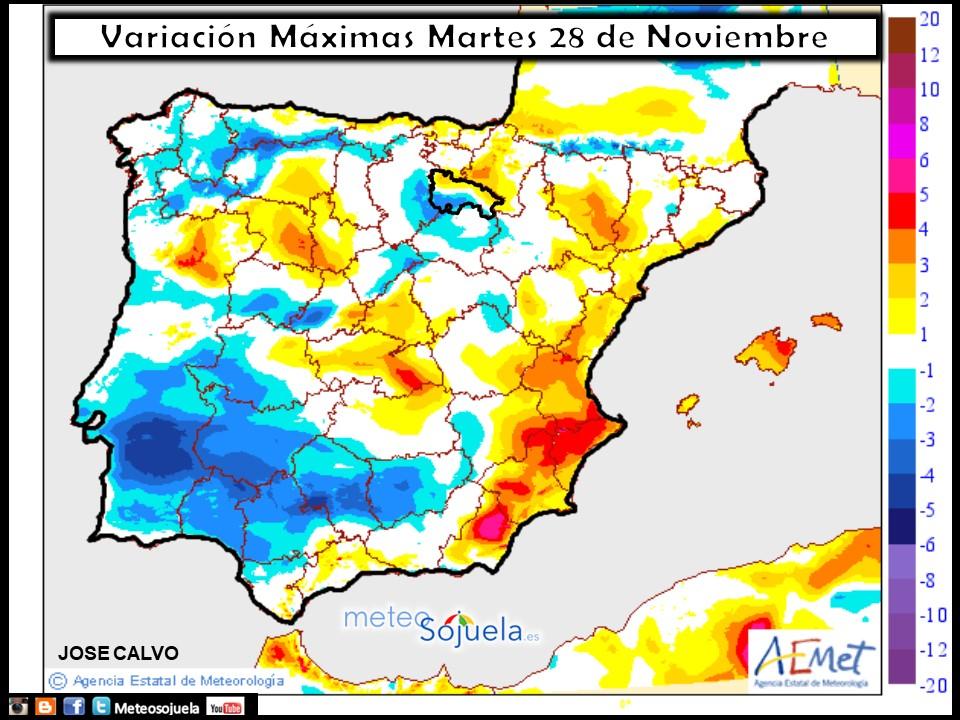 tiempo,hoy,larioja,josecalvo,meteosojuela,mapa temperaturas