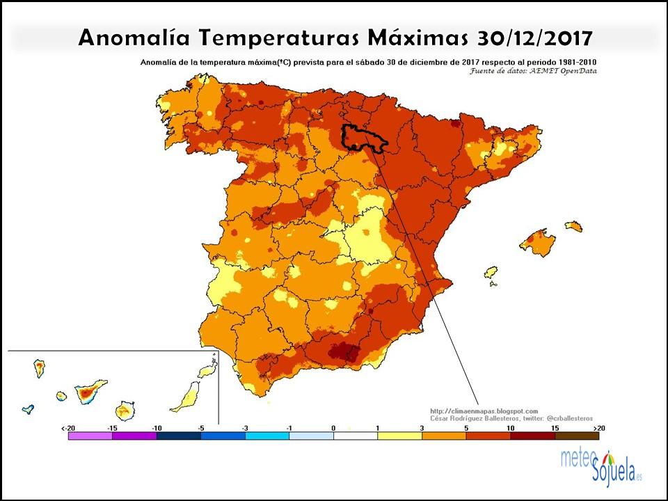 anomalia teemperatura maxima tiempo,larioja,meteosojuela