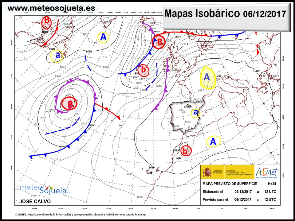 mapa isobarico,tiempo,hoy,larioja,josecalvo,meteosojuela