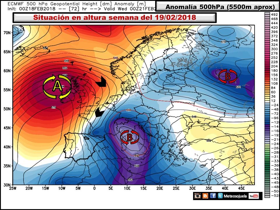 Modelos meteorológicos de altura geopotencial a 500hPa