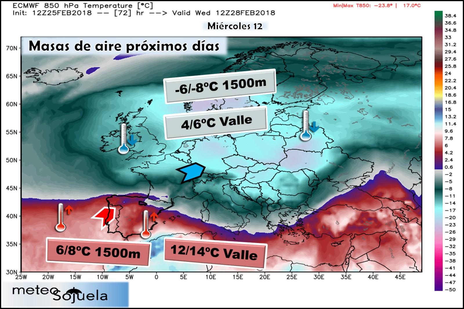 Modelos meteorológicos de altura geopotencial a 850hPa