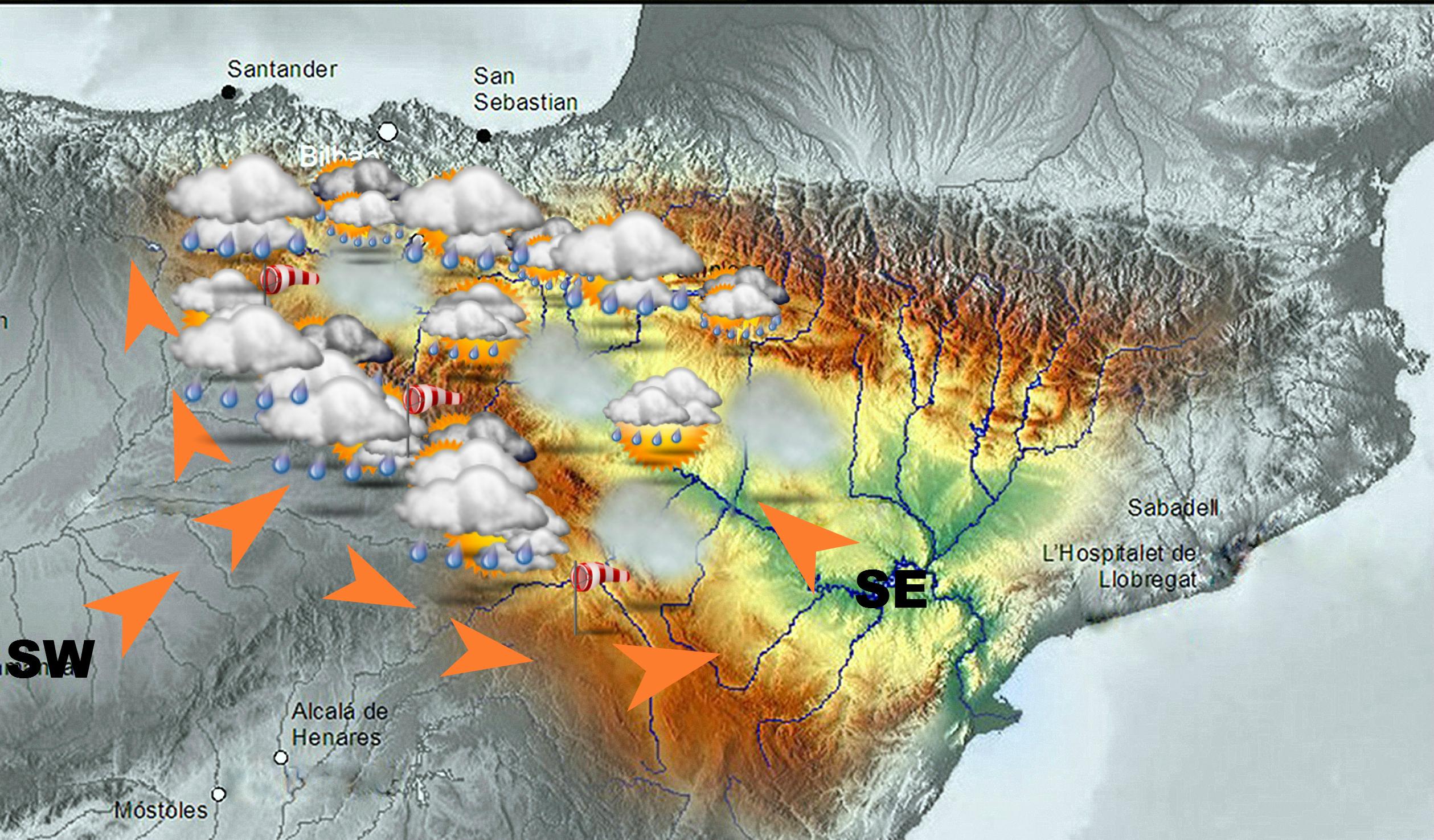 Mapa sgnificativo VALLE DEL EBRO de SW