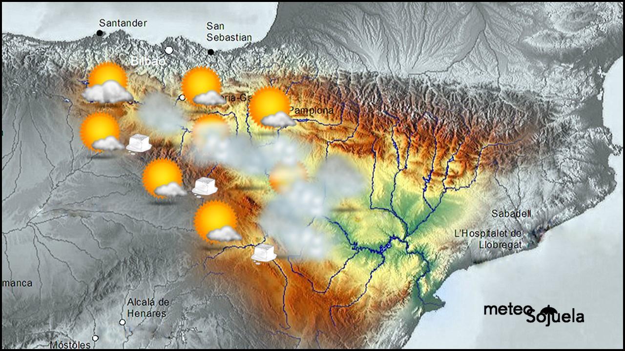 Mapa significativo Valle del Ebro. Meteosojuela