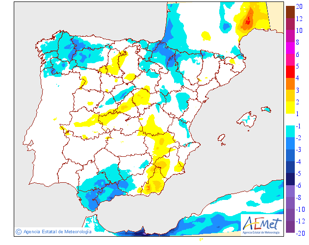 Mapa meteorologico de temperaturas máximas de hoy en La Rioja. Meteosojuela