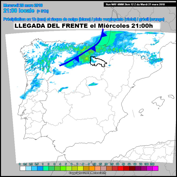 Modelos de precipitación Meteociel.Meteosojuela
