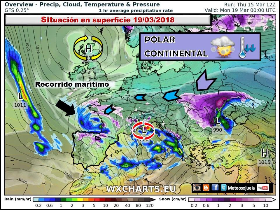 Masa de aire polar continental. Meteosojuela