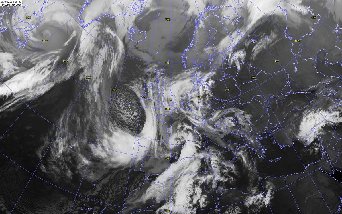 Imagen satélte Meteosat.Meteosojuela