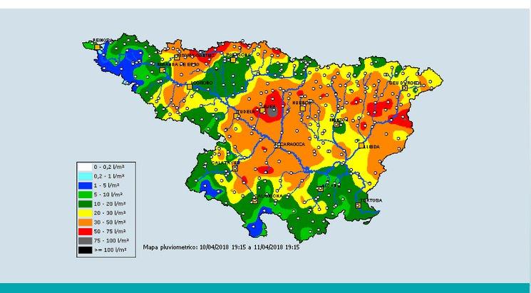 Precipitación Saih Ebro..Meteosojuela