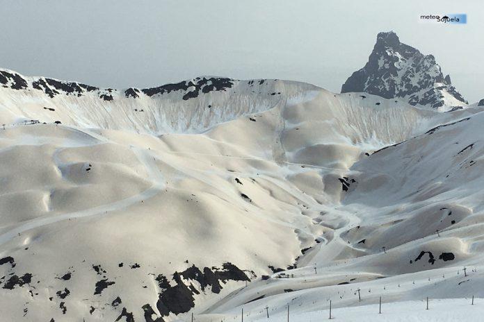 Nieve y arena en Pirineos