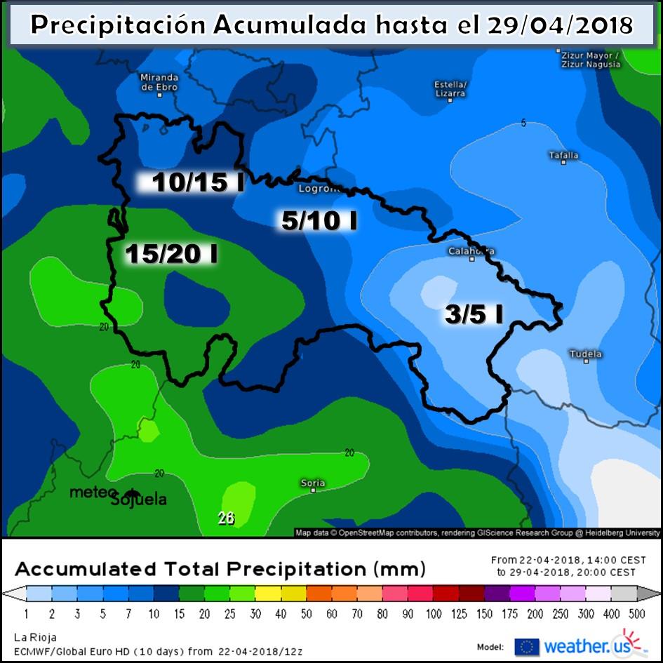 Modelo meteorologico de precipitación acumulada