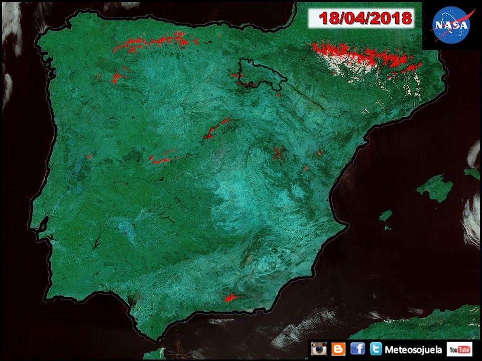 Imágen desde el satélite Aqua de la NASA