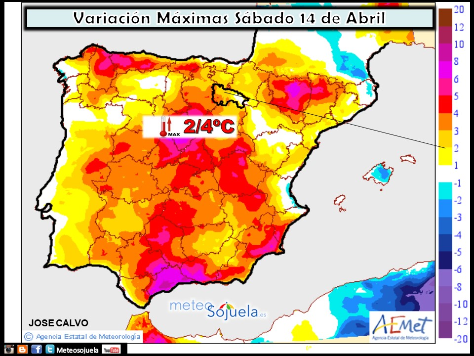 Mapa meteorologico de precipitacion de hoy en La Rioja. Meteosojuela