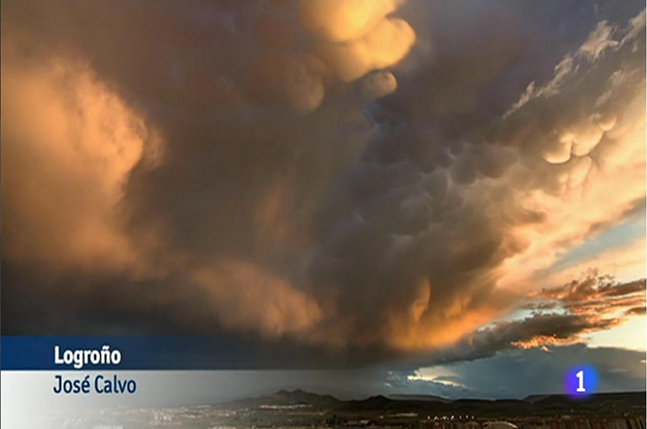 Fotografía emitida en el tiempo de TVE1.Meteosojuela