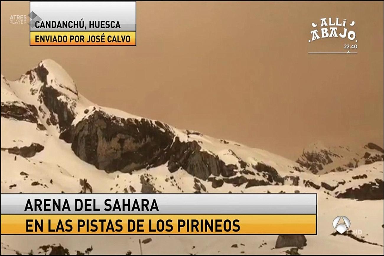 Tormenta de arena en Antena 3 .Meteosojuela