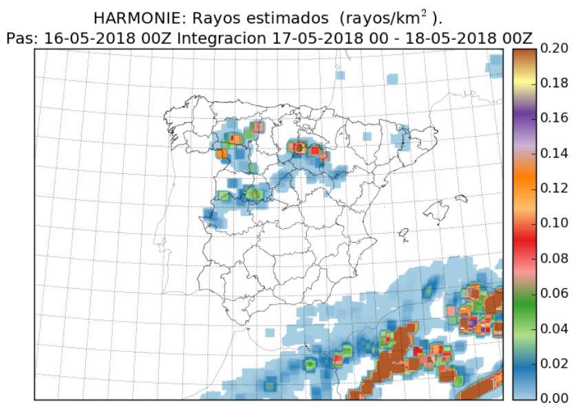 Modelo Rayos Harmonie. Meteosojuela