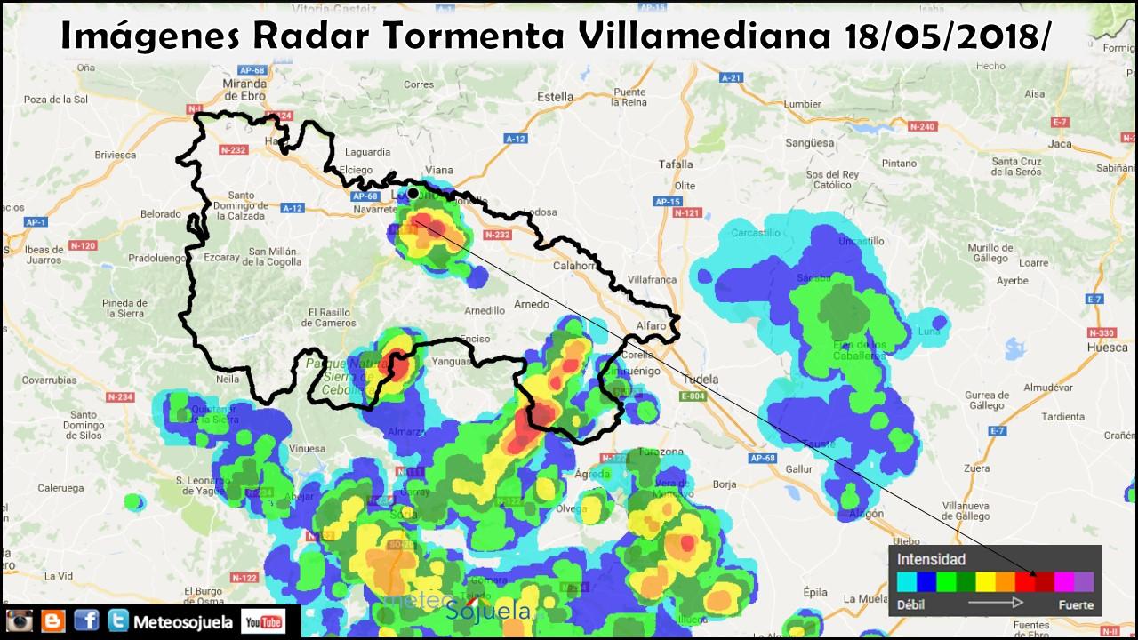 Imagen Radar Rain Alarm. Meteosojuela