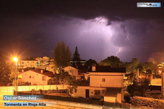 Fotogalería Oscar Sánchez. Tormenta en Rioja Alta