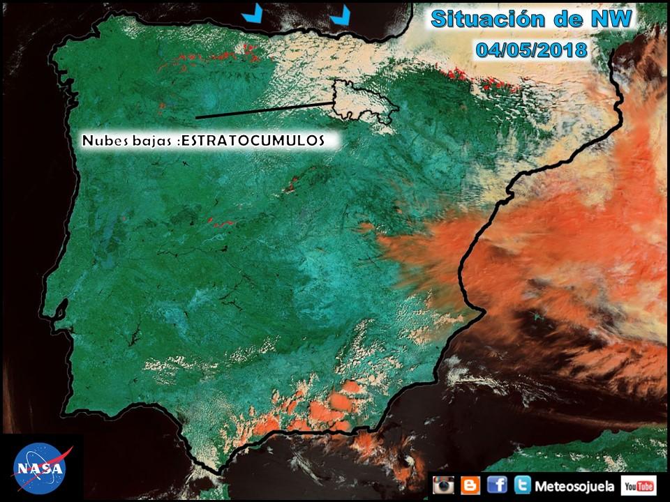 Imágen del satélite Aqua de la NASA. Meteosojuela