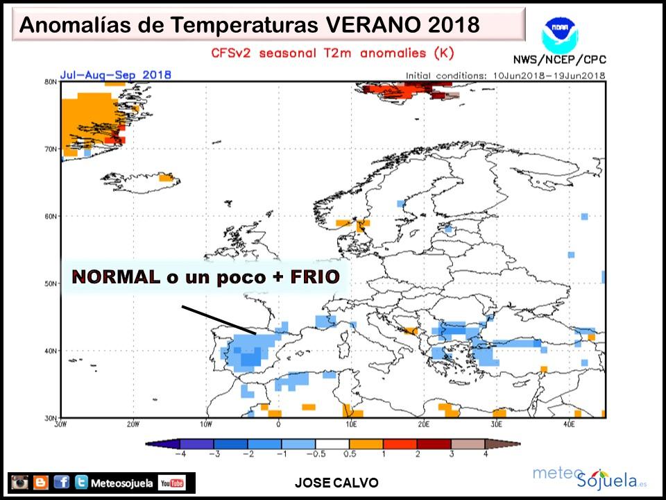 Anomalías temperaturas Primavera. Meteosojuela