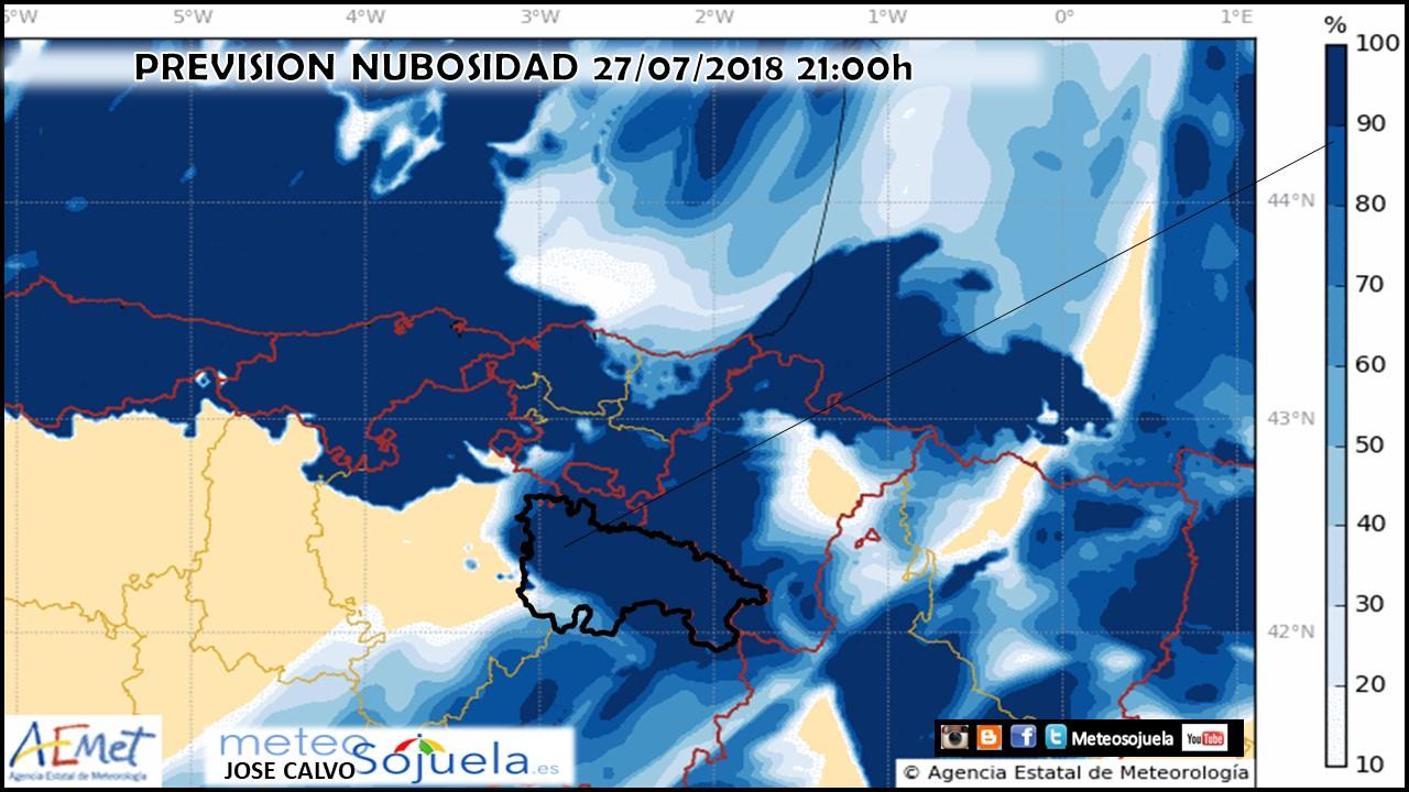 Previsión Nubosidad modelo Harmonie. Eclipse