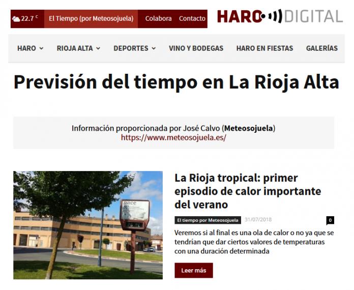 Portada harodigital.com 31/07/2018