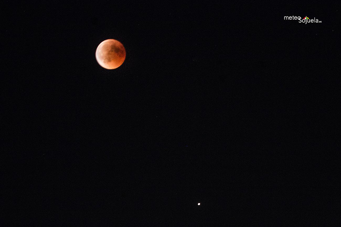Luna de Sangre. Eclipse.con Meteosojuela