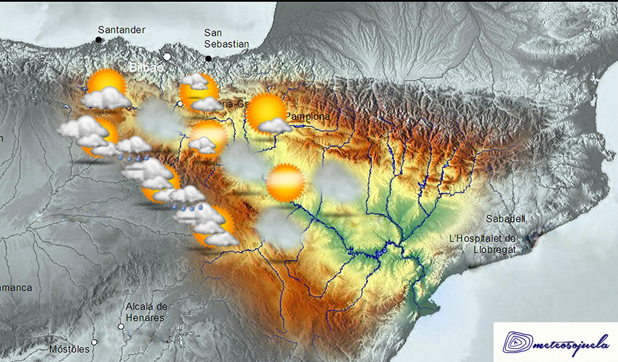 VMapa significativo valle del Ebro. Meteosojuela La Rioja