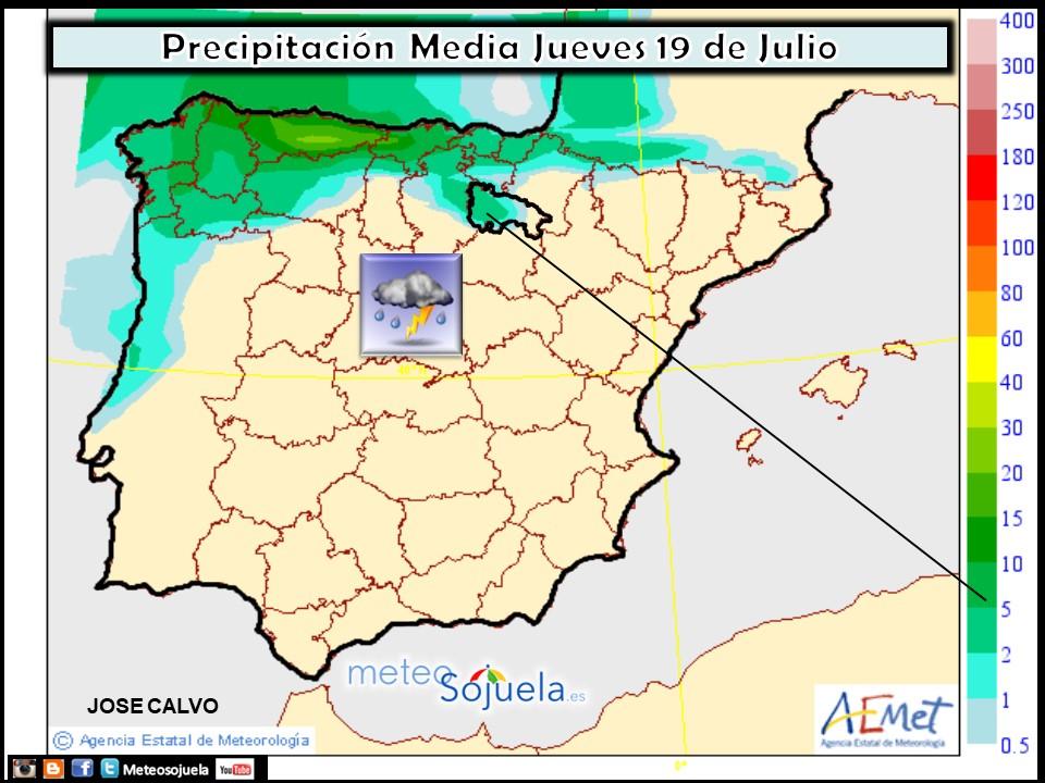 Modelo de precipitacion de AEMET.Meteosojuela