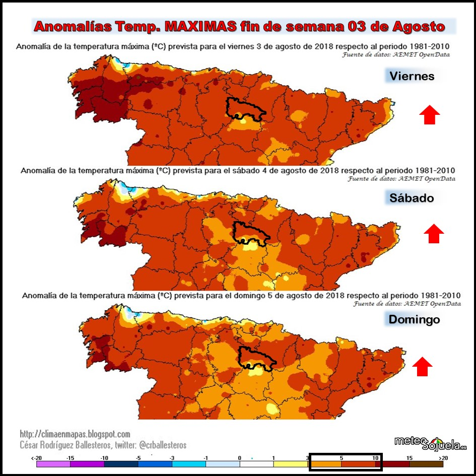 Anomalías de las Temperaturas Meteosojuela