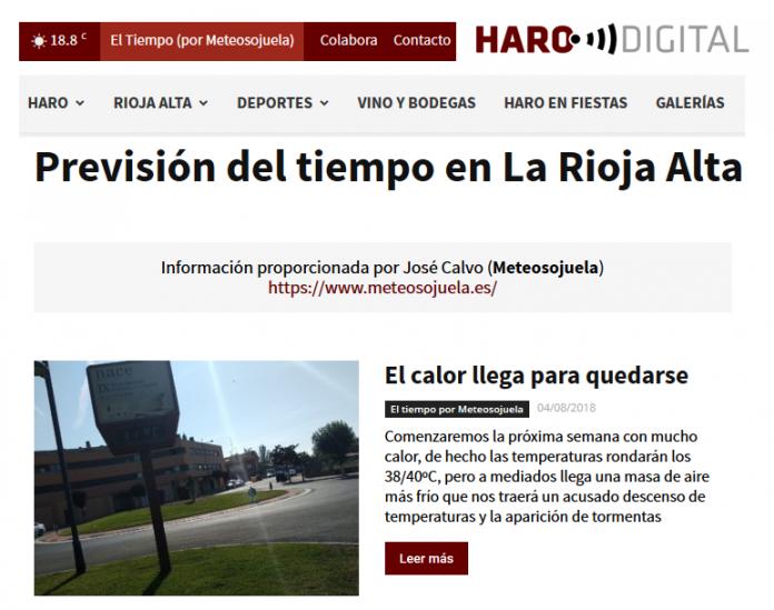 Portada Harodigital.com Meteosojuela