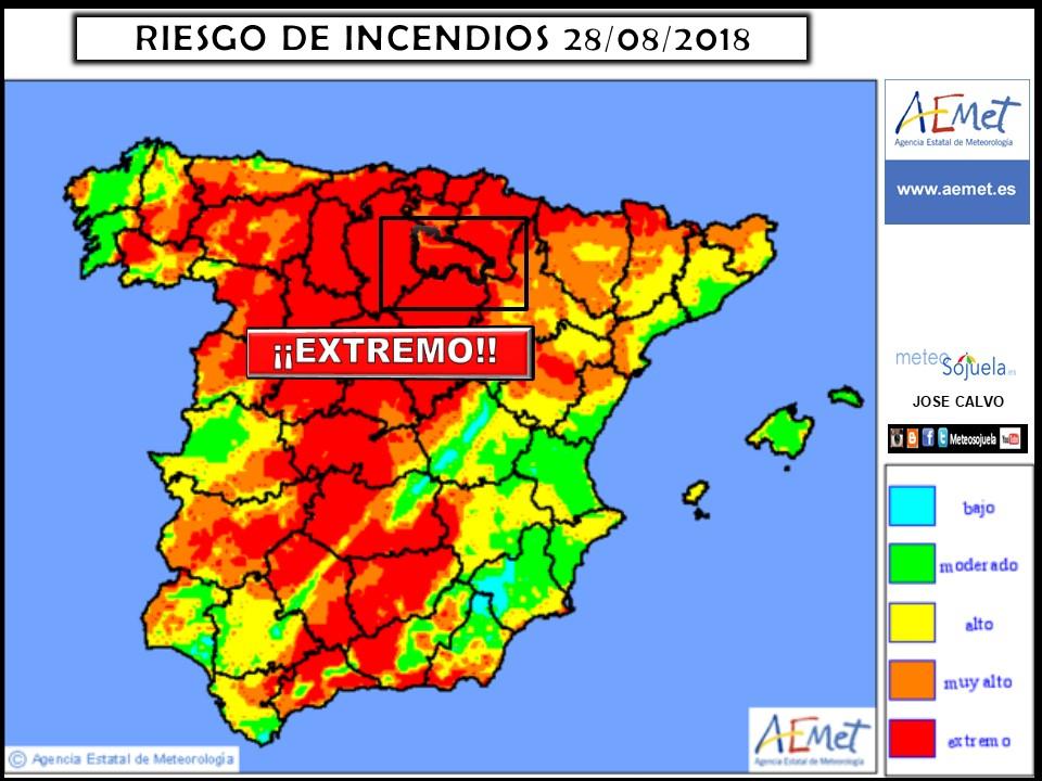 Riesgo de incendios en La Rioja. Meteosojuela
