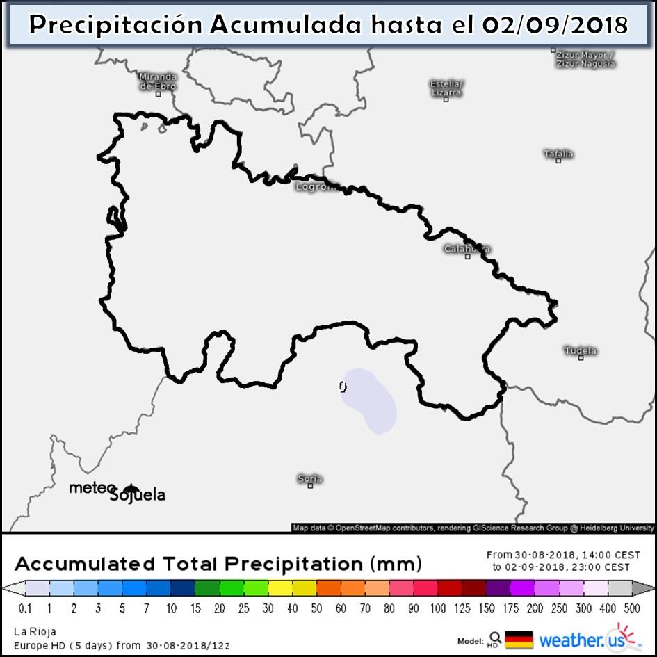 Modelos de precipitación acumulada.Meteosojuela