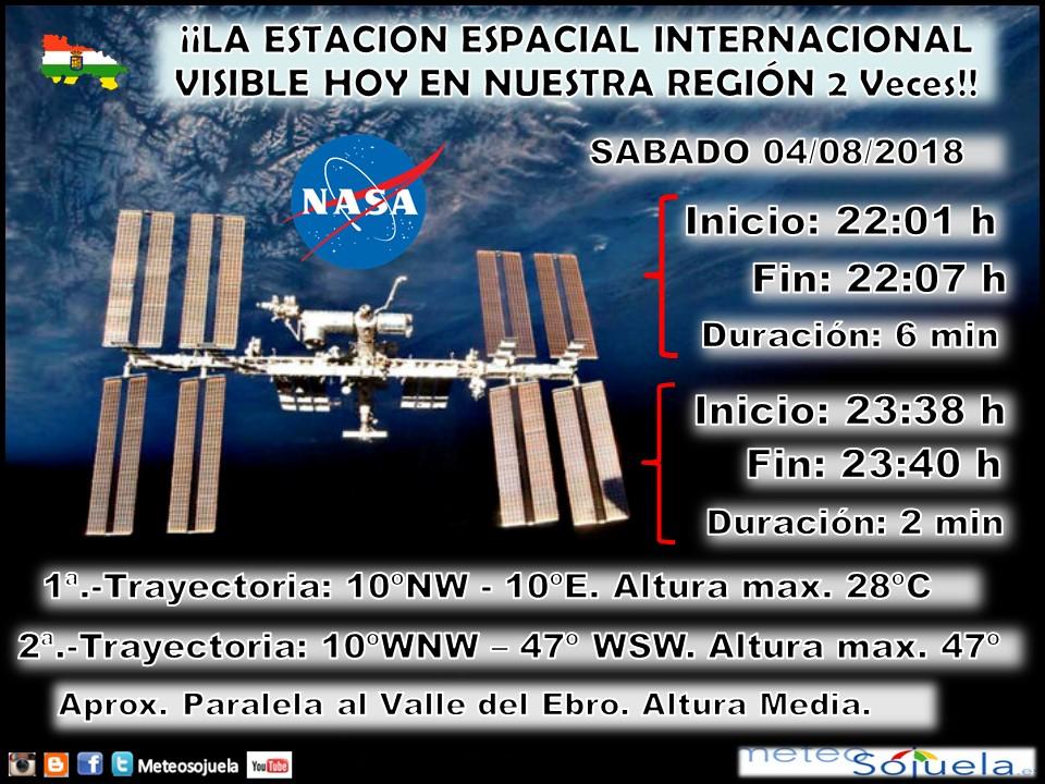 Estacion Espacial Internacional. Meteosojuela