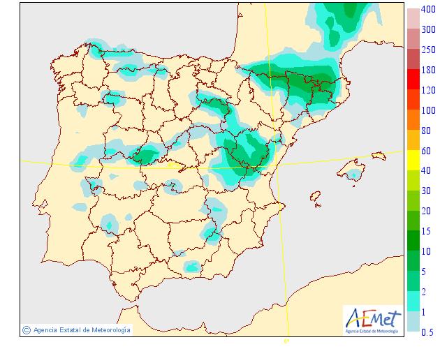 2018Modelo de precipitacion de AEMET.Meteosojuela
