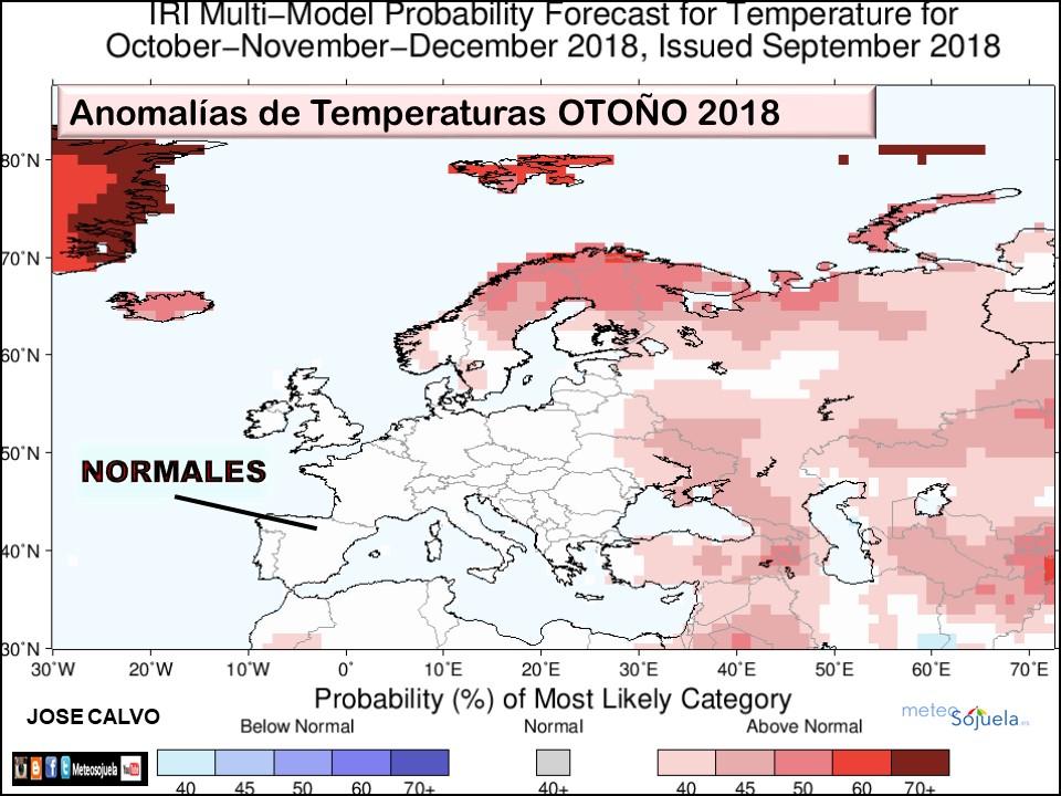 Anomalías temperaturas Otoño. Meteosojuela