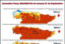 Anomalías de temperaturas máximas.Meteosojuela