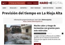 Portada Harodigital.com. Meteosojuela