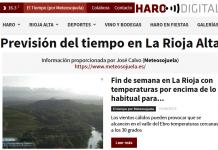 Portada del periódico digital harodigital.com por Jose Calvo de Meteosojuela