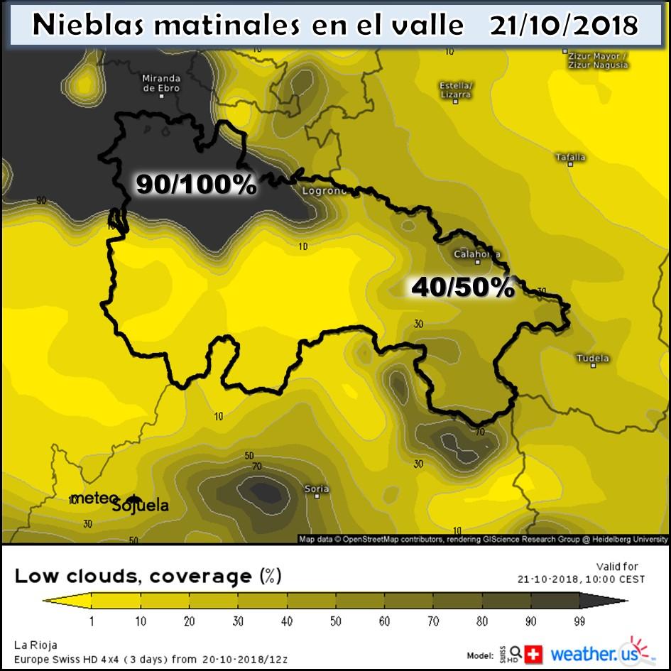Modelos de predicción de nieblas. Weatherus. Meteosojuela
