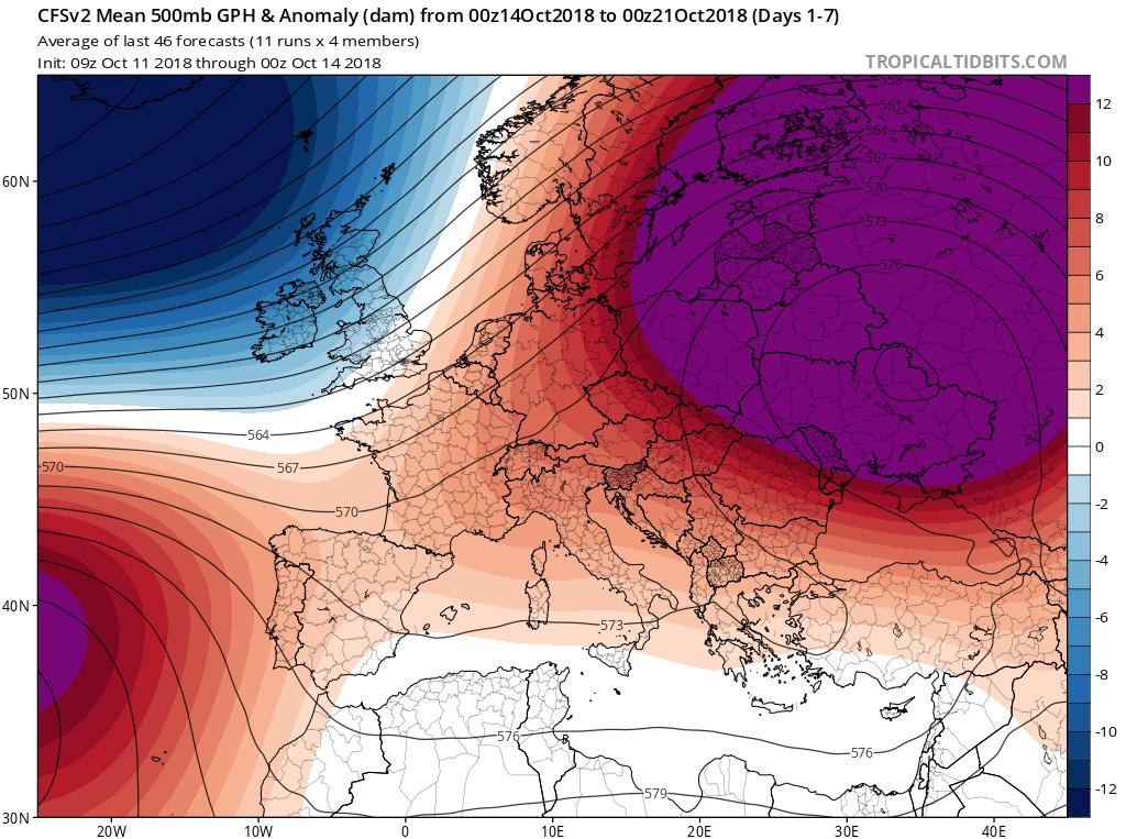Modelos de Altura de Geopotencial a 500hPa Europa. Meteosojuela