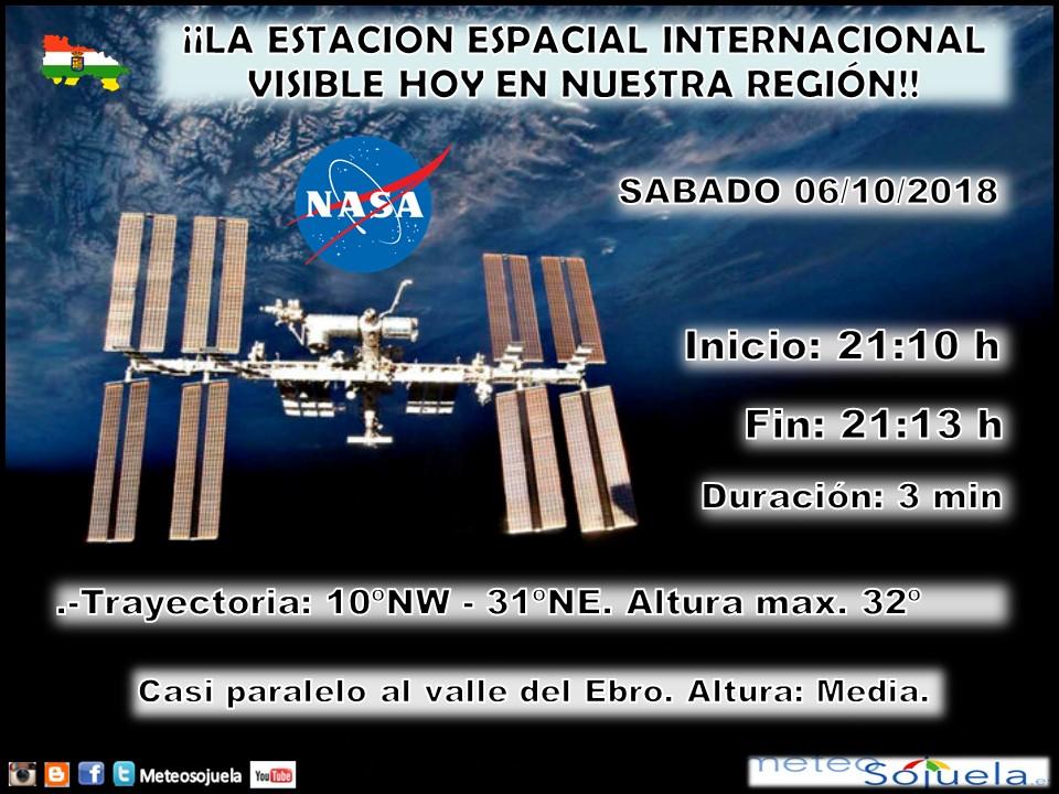 Estación Espacial Internacional.ISS. La Rioja. Meteosojuela