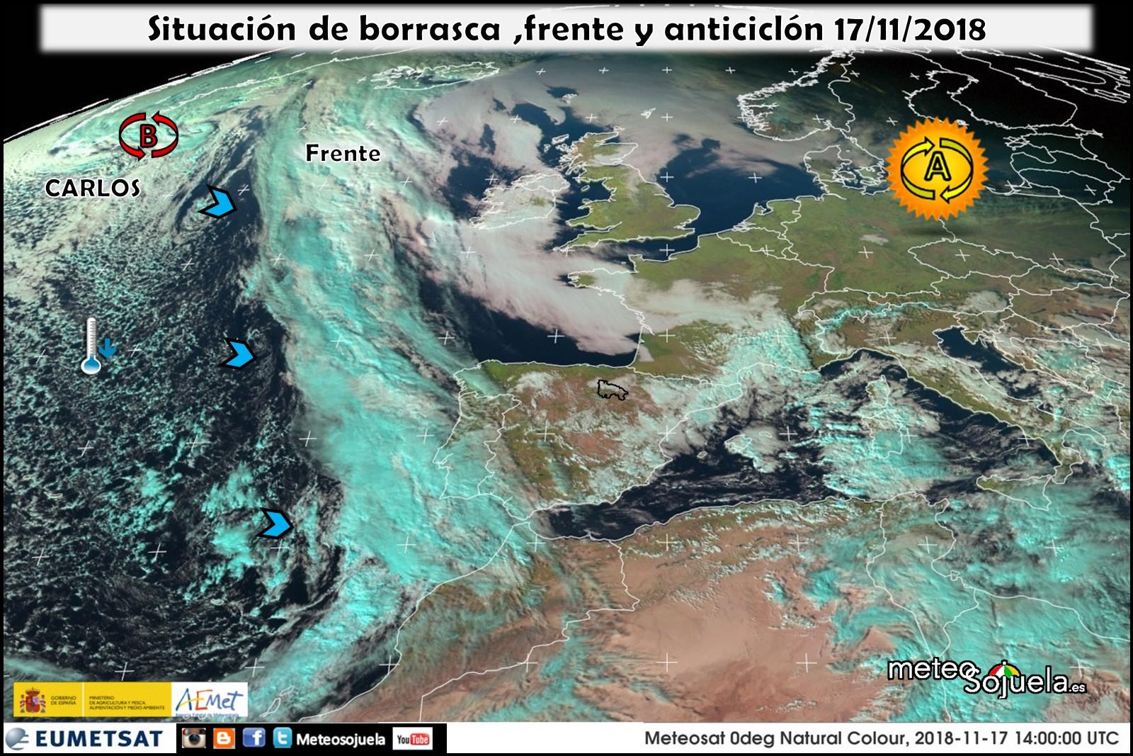 Frente atlántico.Meteosojuela La Rioja