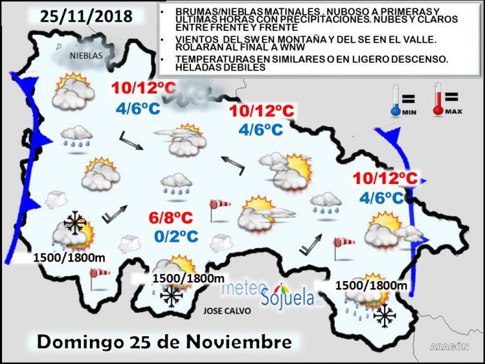 Mapa tiempo La Rioja. Meteosojuela1