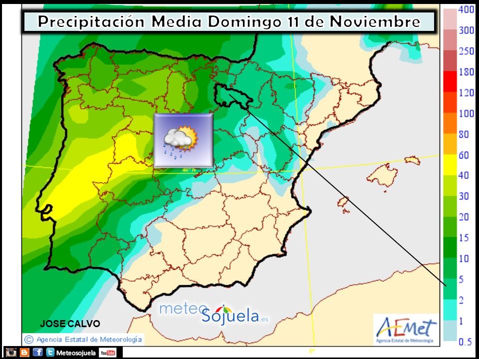 Mapas de precipitación media AEMET. Meteosojuela