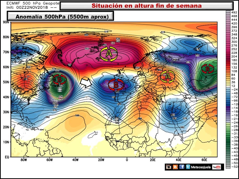 Modelos de altura Geopotencial 500 hPa. Meteosojuela La Rioja