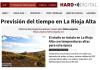 Portada periódico digital harodigital.com. Meteosojuela La Rioja