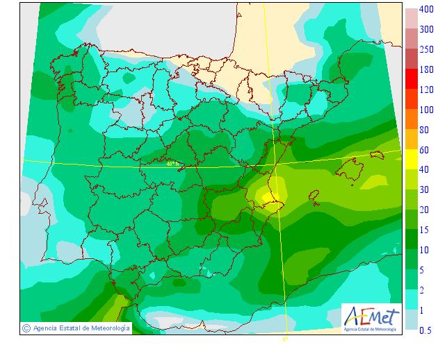 Precipitación Media AEMET. Meteosojuela La Rioja 19