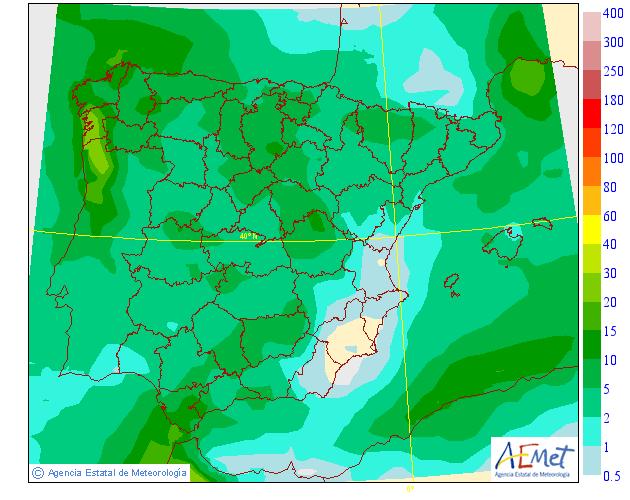 Precipitación Media AEMET. Meteosojuela La Rioja 20