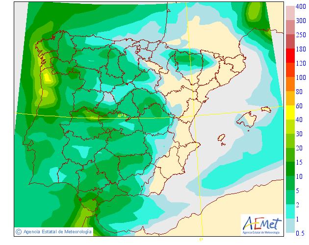 Precipitación Media AEMET. Meteosojuela La Rioja 21