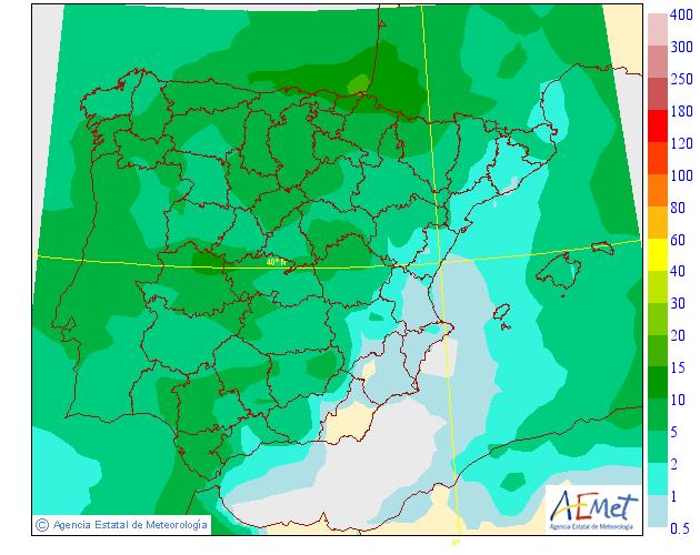 Precipitación Media AEMET. Meteosojuela La Rioja.25